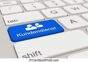3d - keyboard - Kundendienst - blue