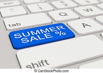 3d - keyboard - summer sale - blue