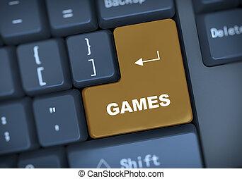 3d keyboard text games