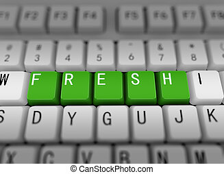 3d keyboard - word fresh