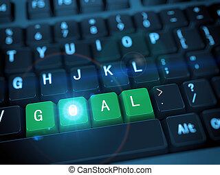 3d keyboard - word goal