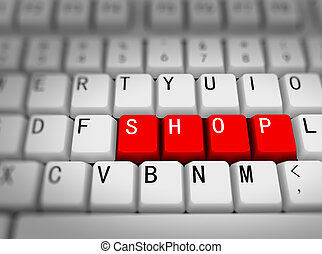 3d keyboard - word shop