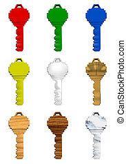 3D Keys - 9 colorful 3D Keys