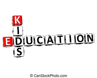 3D Kids Education Crossword