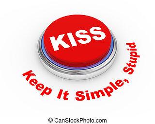 3d KISS button