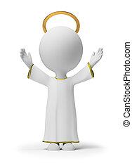 3d, kleine, mensen, -, god