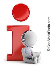 3d, kleine, mensen, -, informatie
