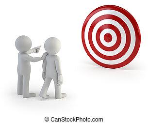 3d, kleine, mensen, -, trainer, het tonen, de, juiste weg, om te, volgen