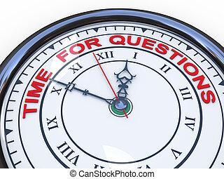 3d, klok, -, tijd, voor, vragen