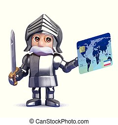 3d Knight pays with plastic