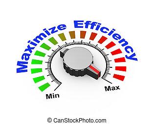 3d knob - maximize efficiency - 3d illustration of knob set...