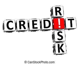 3d, kredyt, ryzyko, krzyżówka