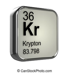 3d Krypton element