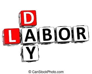 3D Labor Day Job Crossword
