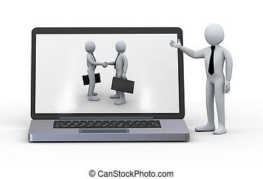 3d laptop business partnership