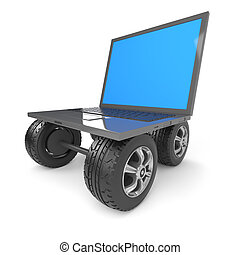 3d Laptop on wheels