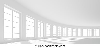 Large Hall - 3d Large Hall with Windows