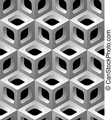 3d lattice seamless pattern vector