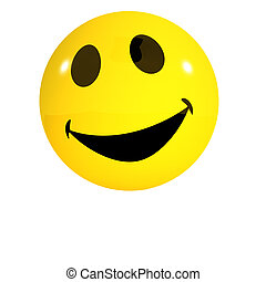 3d Laughing smiley