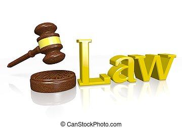 3D law concept