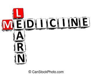 3D Learn Medicine Crossword