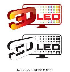 3d led icon