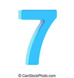 light blue number 7