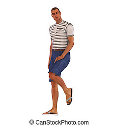 3D Leisure Time - Man in leisure clothes Image contains a...