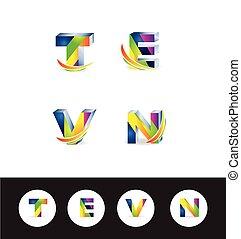 3d letter logo icon alphabet