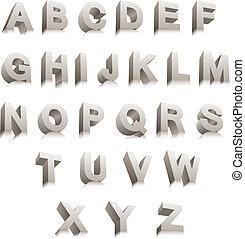 3D Letters - 3D vector letters