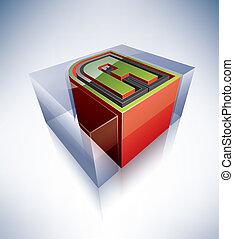 3D letters: A