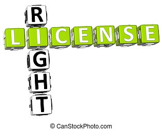 License Right Crossword