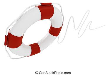 3d life buoy, on white background