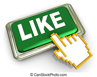 3d like button