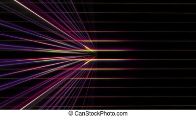 3d line neon light in space - 3d line neon light motion in ...