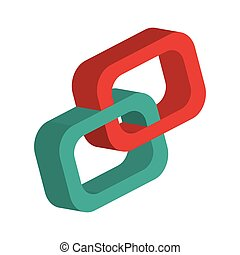 3d link chain icon