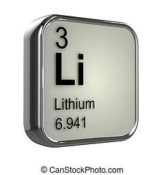 3d, lithium, elemento