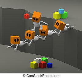 teamwork with people bridge