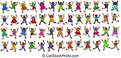 3d Little Girls and Boys