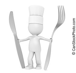 3D Little Human Character The Chef