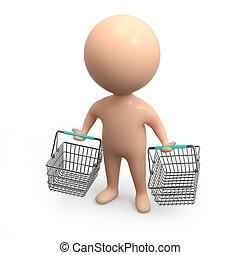 3d Little shopper