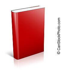 3d, livre rouge, debout