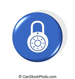 locked icon - 3d locked icon