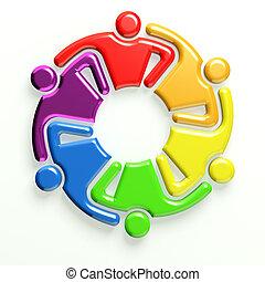 3d, logo, business, icône