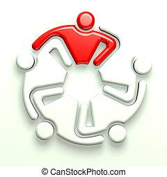 3D Logo business leader 5