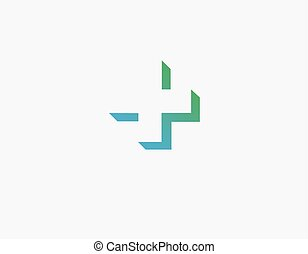 3d logo green cross silhouette shadow pharmacy