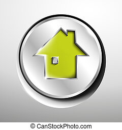 3d logo of chrome home (main page) button.