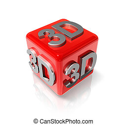 3D logo on a red cube