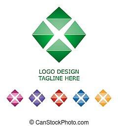 3d logo on white background