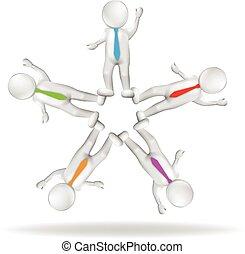 3D logo teamwork executives